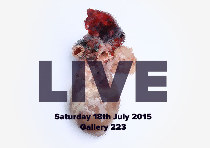 LIVE at Gallery 223 on Saturday 18th July 2015